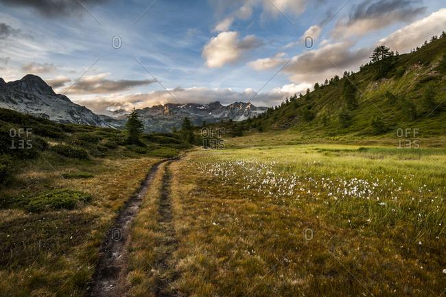 Landscape of mountains in Devero Natural Park, Lepontine Alps
