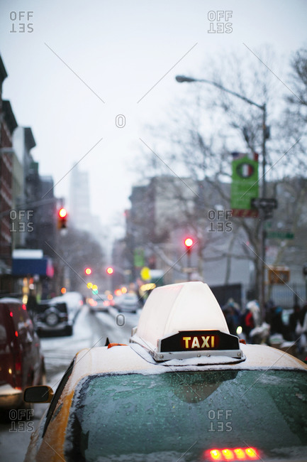 New York taxi roof light stock photo - OFFSET
