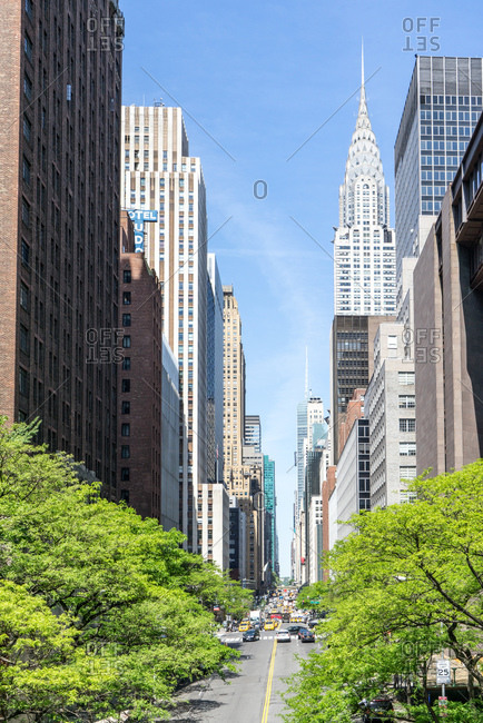 Long avenue in New York city