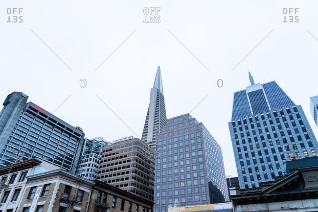 June 6, 2015: Transamerica Pyramid and downtown San Francisco