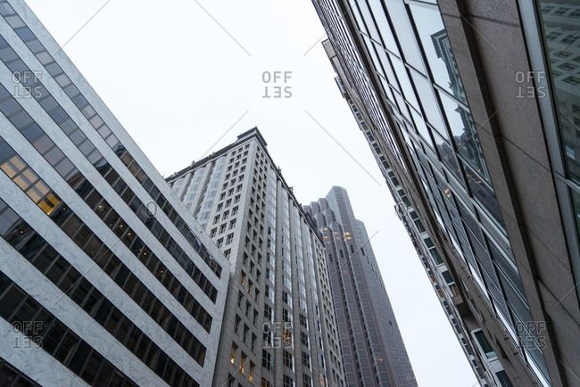 Downtown buildings from low angle