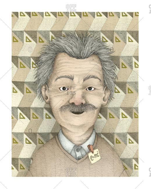 Illustration of Albert Einstein - Offset