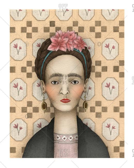 Illustration of Frida Kahlo - Offset