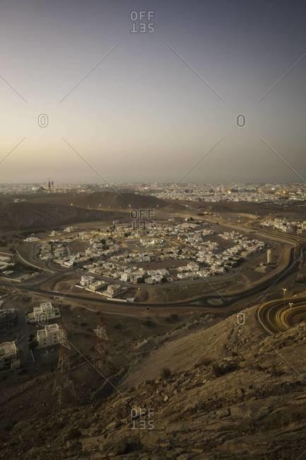 Muscat, Oman at dusk