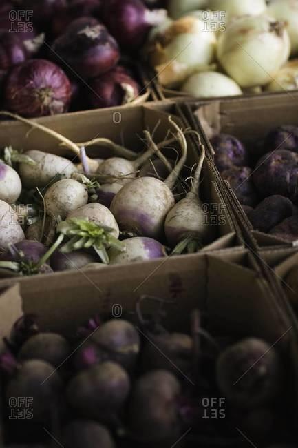 Vegetables in market in Aspen, Colorado