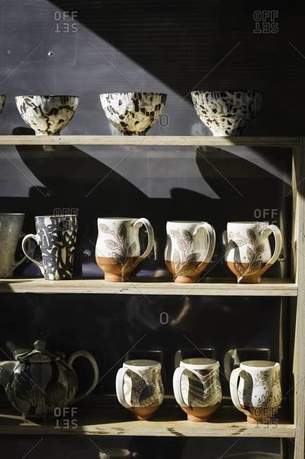 Pottery in market in Aspen, Colorado
