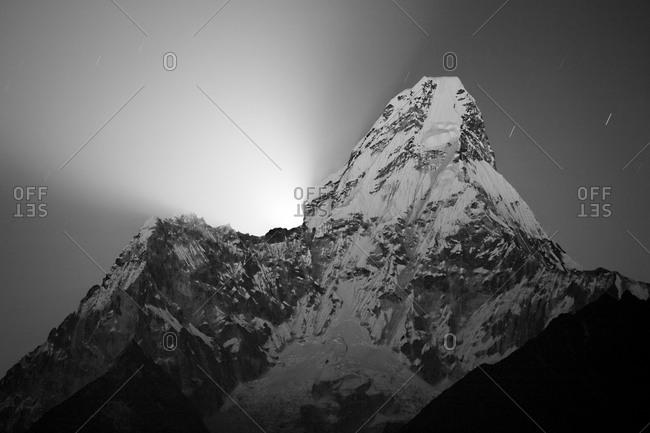 Moonrise over Ama Dablam, Nepal