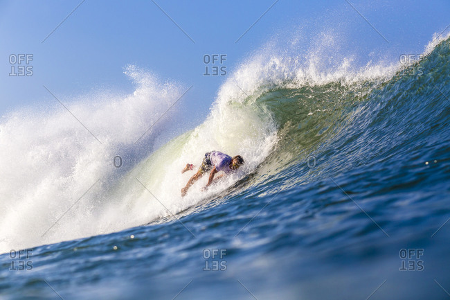 Surfer's wipeout, Bali