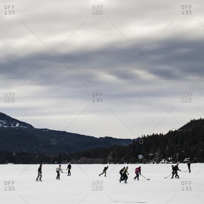 Playing hockey in British Columbia, Canada
