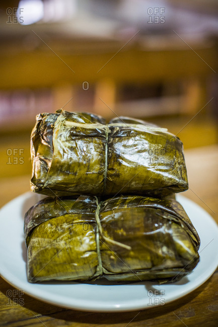 Close up of tamales