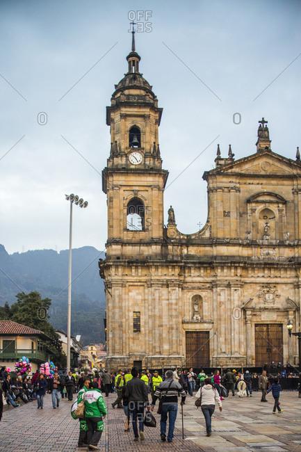 Bogota, Colombia - December 3, 2013: Plaza de Bolivar