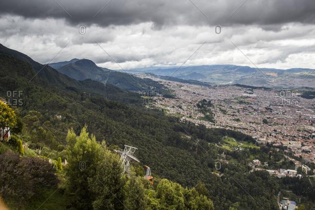 Downtown Bogota, Colombia fro Cerro Monserrate