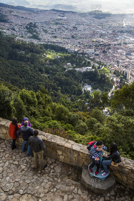 Downtown Bogota, Colombia from Cerro Monserrate