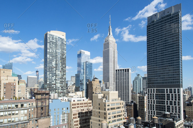 New York, NY, USA - October 8, 2014: The Empire State Building in New York City, USA
