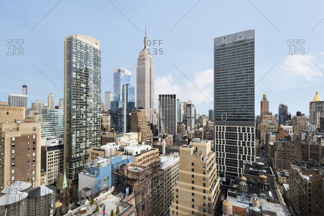 New York, NY, USA - October 9, 2014: The Empire State Building in Manhattan, New York City, USA