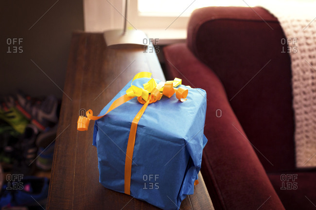 Gift box with a ribbon