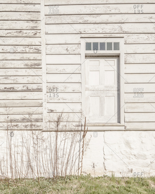 Side door of a vacant historic house in Staten Island
