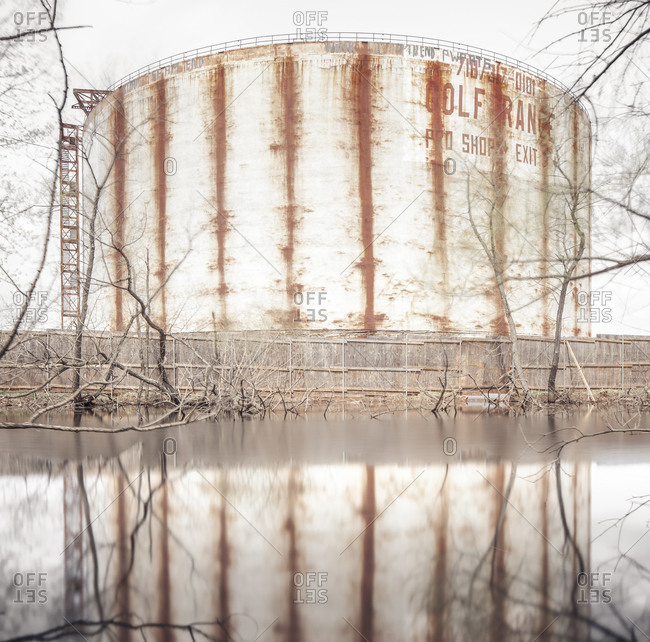 Abandoned silo in Staten Island, NYC
