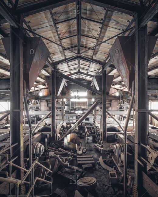 Top floor of an abandoned coal breaker