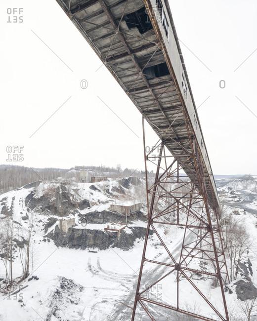 Coal chute at an abandoned breaker