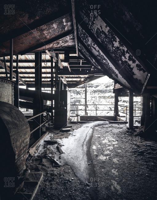 Interior of an abandoned coal breaker