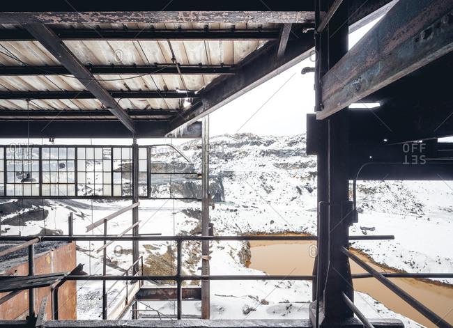 Winter scene in a coal breaker