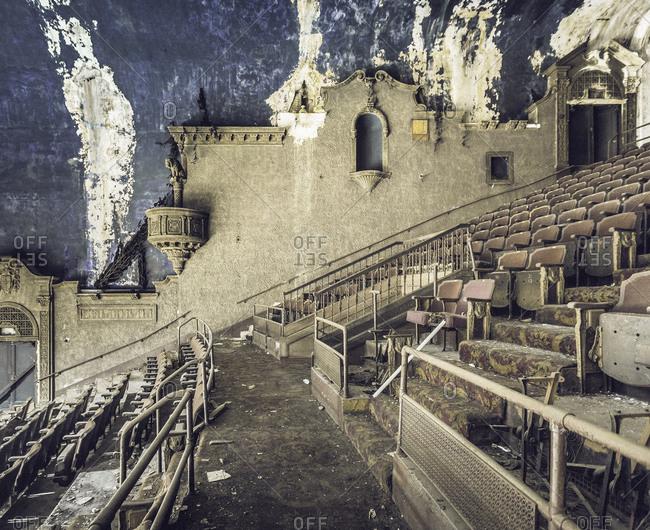 Abandoned movie palace