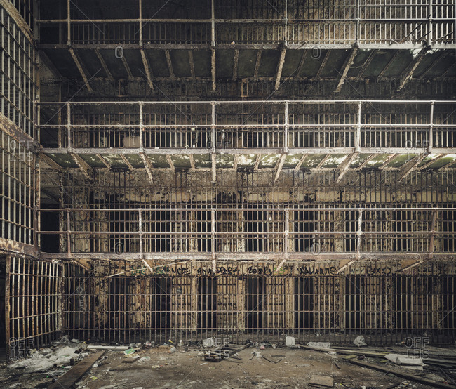 Interior of an abandoned jail