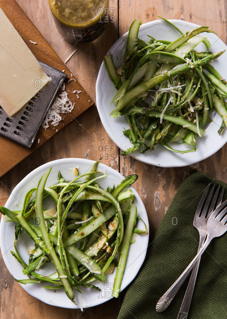 Shaved asparagus salad - Offset Collection