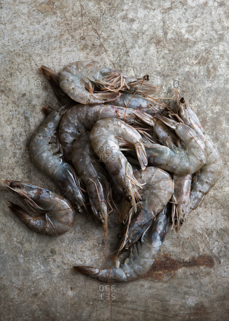 Raw Louisiana shrimp