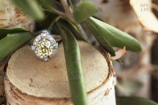 Close up of a wedding ring