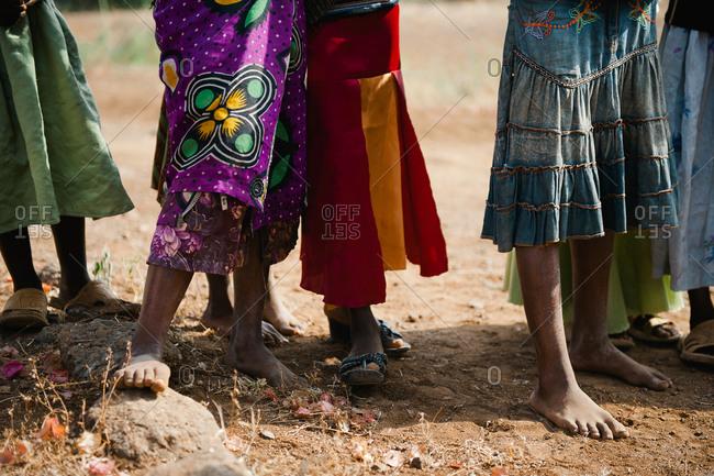 Feet of children in Tanzania