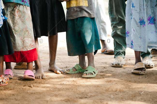 Children's feet in Tanzania