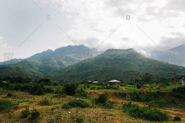 Remote village in Tanzanian mountains