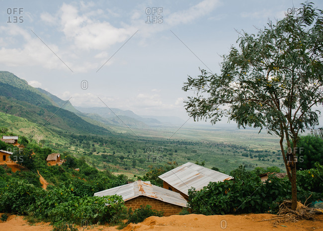 Houses in remote Tanzanian village