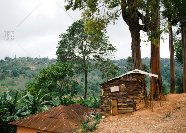 Wooden shed in remote Tanzanian village