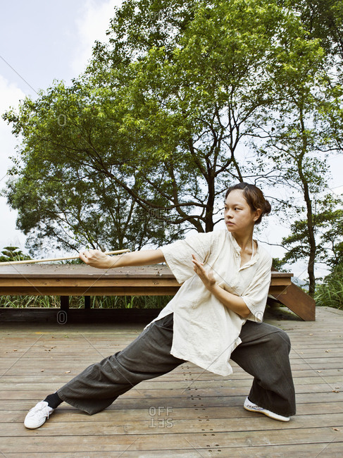 Taiwan - June 19, 2008: Under the direction of Liu Ruo-Yu and music director Huang Chih-Chun, theater troupe U Theatre trains at their rehearsal space on Laochuan Mountain in Taipei