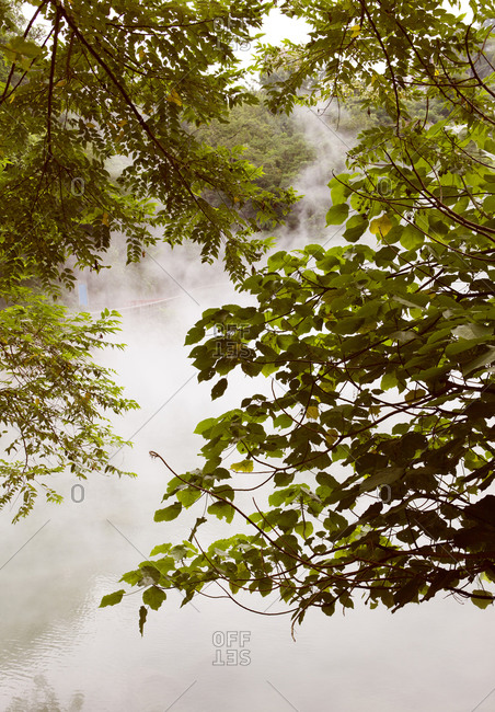 Beitou (Peitou) Hot Springs in the northern outskirts of Taipei, on the southwestern flank of the Yangmingshan volcano