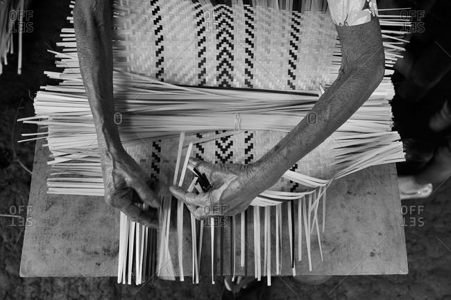 Bamboo weaver, Abra, Philippines