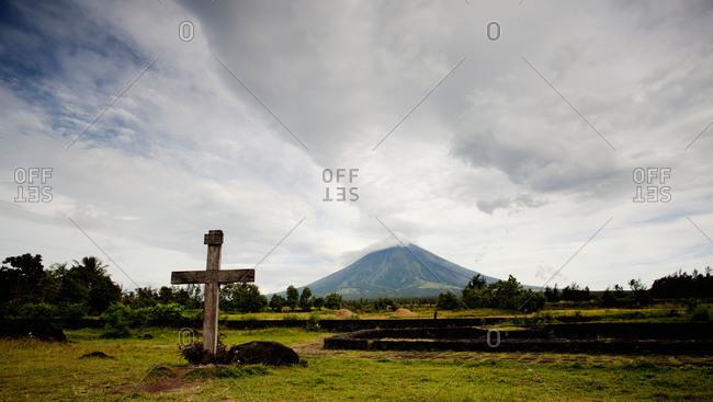 Mayon volcano in Legazpi, Philippines