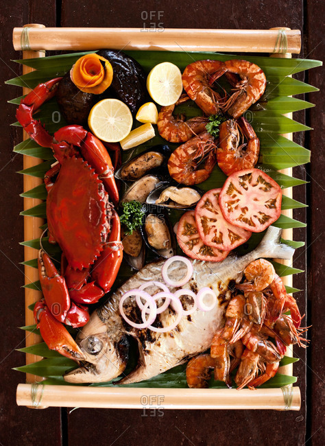 Seafood platter in the Philippines
