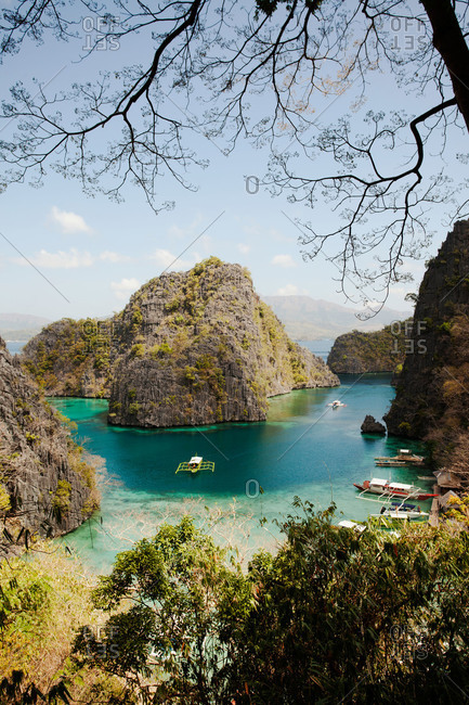 Kayangan Lake and rock formations, Philippines