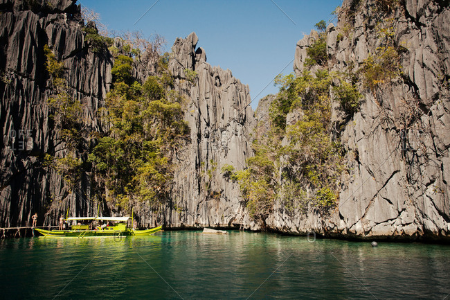 Boat in Kayangan Lake, Philippines