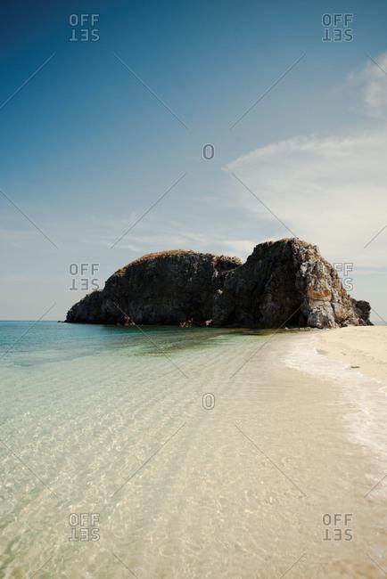Rock formations off Philippine coastline