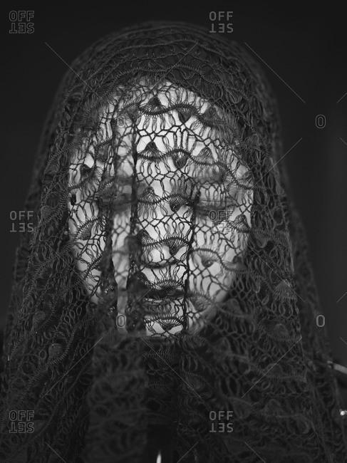 Marinduque, Philippines - March 28, 2013: Portrait of woman in veil, Philippines