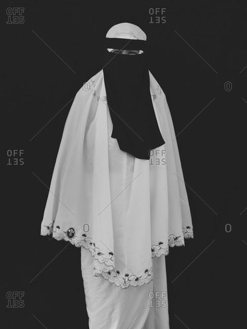 Bukidnon, Philippines - August 7, 2013: Muslim woman wearing veil, Philippines