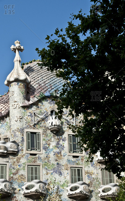 Barcelona, Spain - July 14, 2010: Casa Batllo