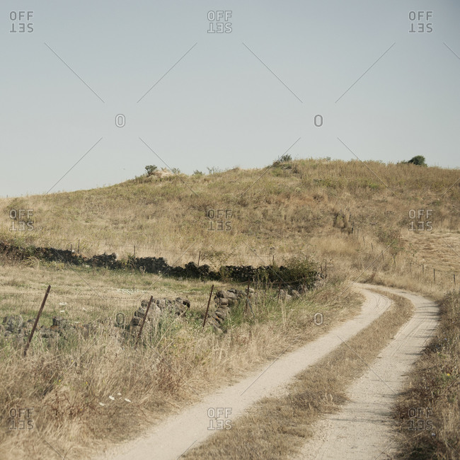 Dirt road in rural countryside