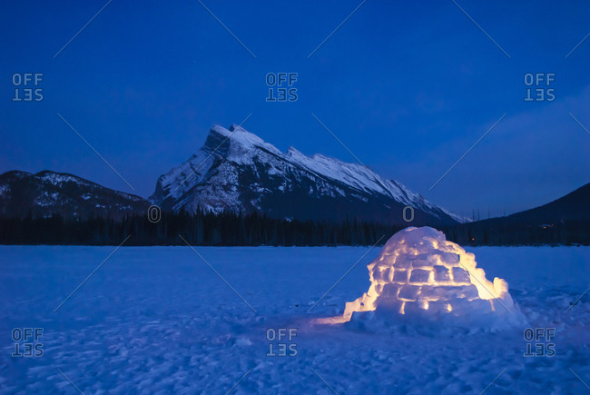An igloo in the wilderness