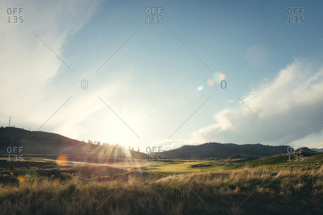 A golf course in Kamloops, Canada